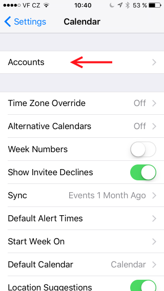 how to add other country calendar to iphone