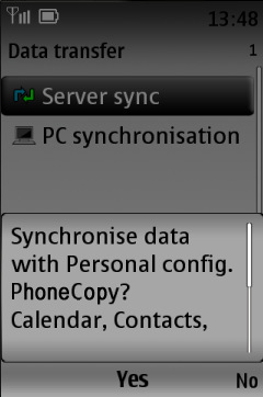 Confirm the sync