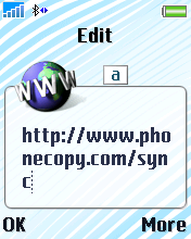 Type in http://www.phonecopy.com/sync