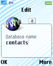 Type in Contacts