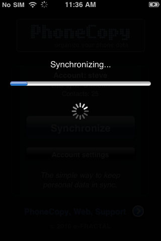 Sync in progress