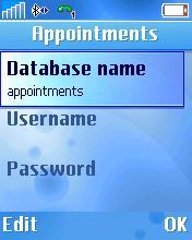 Type in appointments