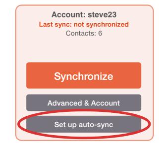 Set up auto-sync