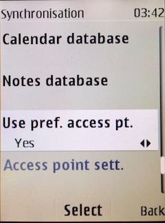 Select, if you want to use pref. access pt.