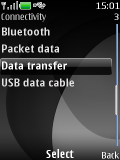 Select Data transfer