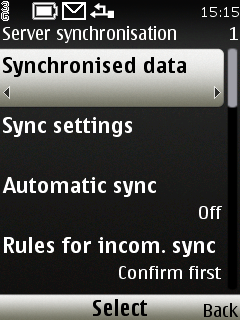 Zvolte Synchronised data