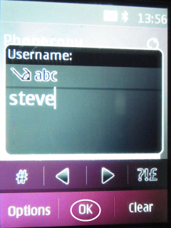 Type your user name into box Username.