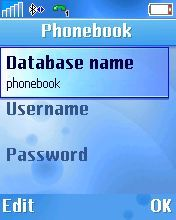 Type in phonebook