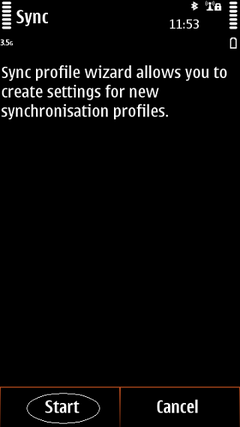 Start synchronization wizard